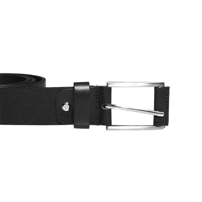 Klassischer Ledergürtel, Schwarz, 954-6833 - 26