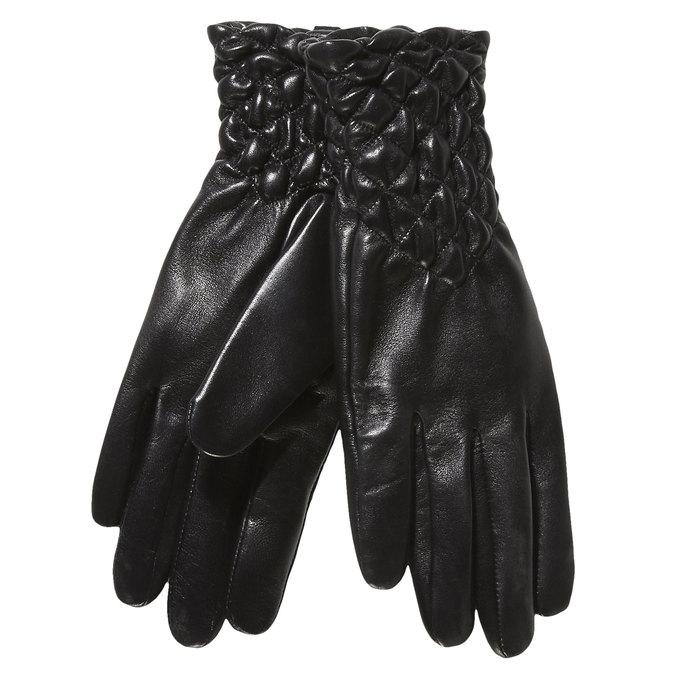 Damen-Lederhandschuhe mit Steppung, Schwarz, 904-6113 - 13