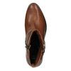 Knöchelschuhe aus Leder mit einer Schnalle bata, Braun, 594-4602 - 19