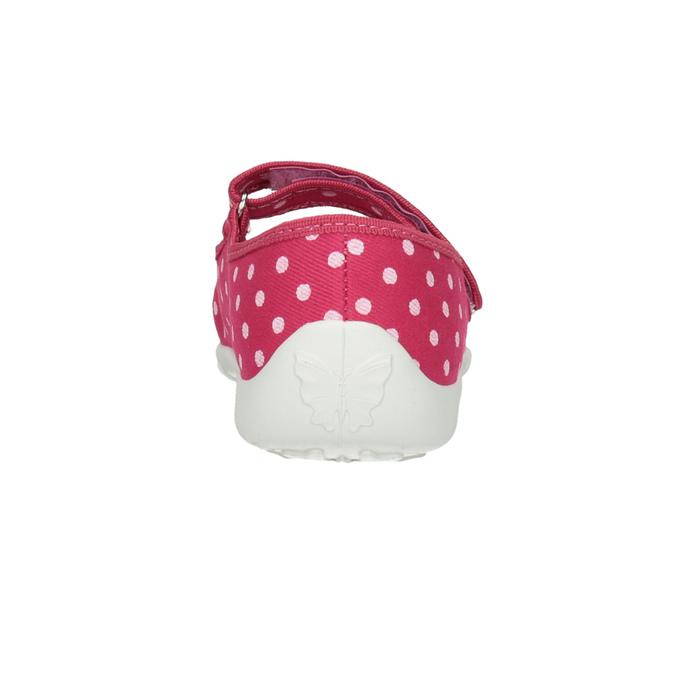 Kinder-Hausschuhe mit einem Riemchen über den Spann mini-b, Rosa, 379-5209 - 17