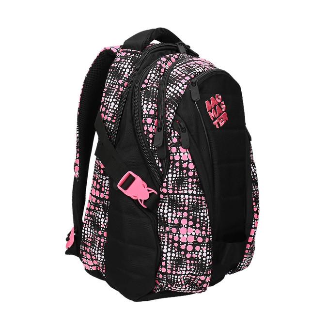 Mädchen Schulrucksack mit Muster bagmaster, Schwarz, 969-5615 - 13
