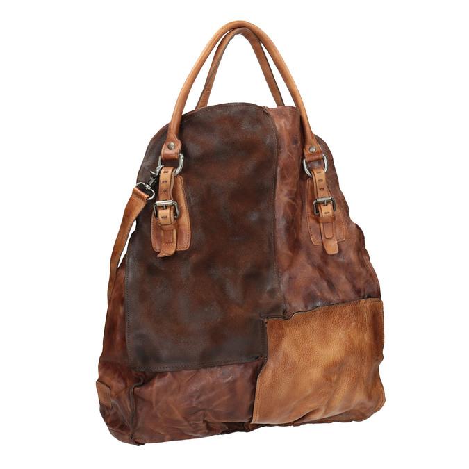 Handtasche aus Leder mit festen Henkeln a-s-98, 966-0001 - 13
