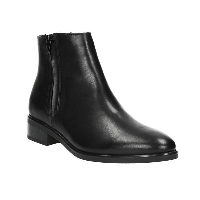 Schwarze Knöchelschuhe aus Leder mit Reissverschluss bata, Schwarz, 594-6518 - 13