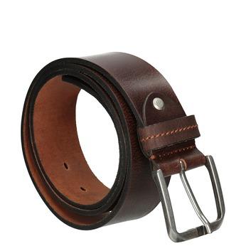 Brauner Gürtel aus Leder bata, Braun, 954-3106 - 13