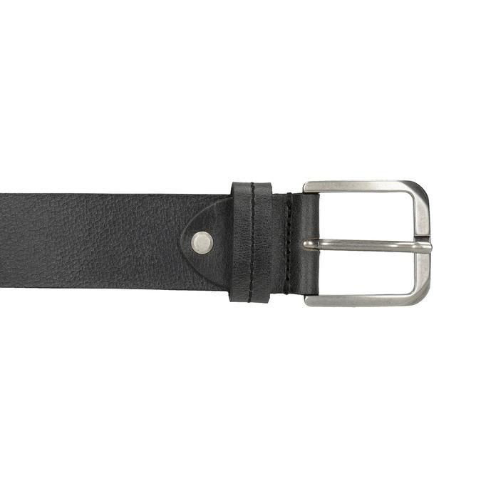 Schwarzer Gürtel aus Leder bata, Schwarz, 954-6106 - 26