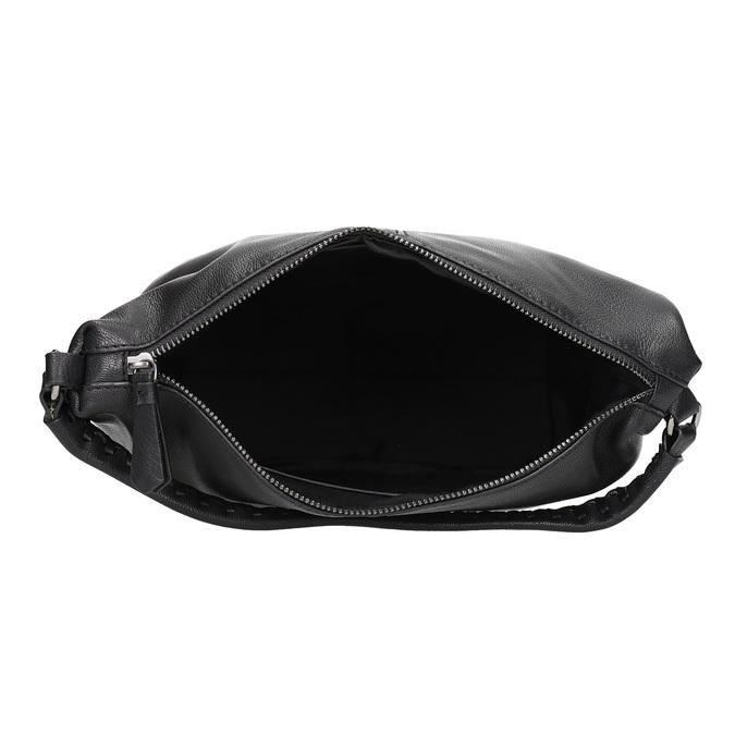 Lederhandtasche mit abnehmbarem Gurt, Schwarz, 964-6233 - 15