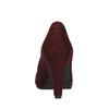 Weinrote Lederpumps mit einem Riemchen über den Spann bata, Rot, 729-5601 - 17