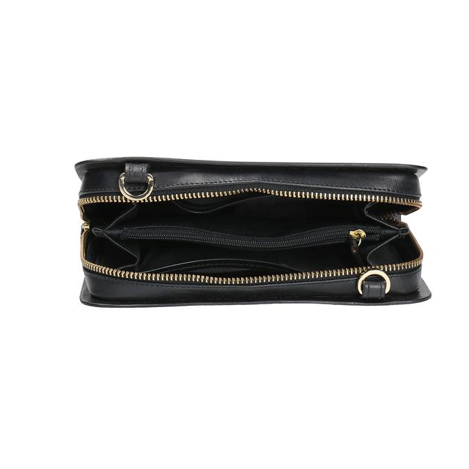 Schwarze Crossbody-Handtasche aus Leder royal-republiq, Schwarz, 964-6017 - 15