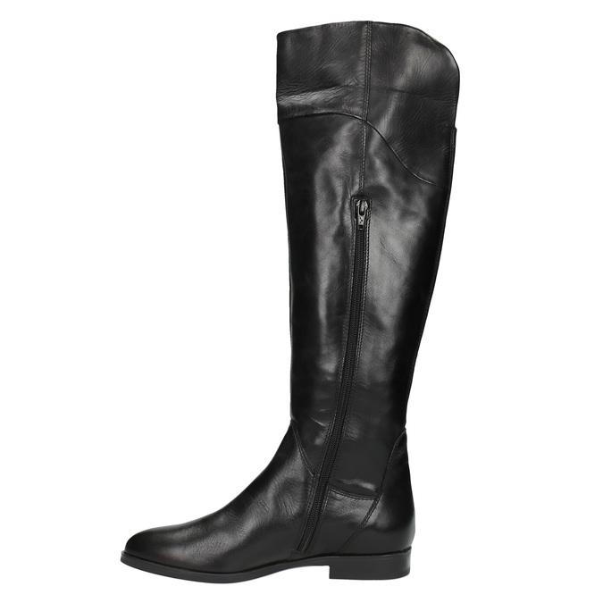 Overknee-Damenstiefel aus Leder bata, Schwarz, 594-6605 - 19