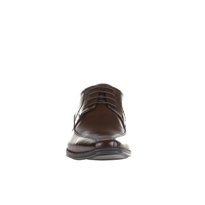 Legere Lederhalbschuhe mit massiver Sohle bata, Braun, 824-4698 - 16