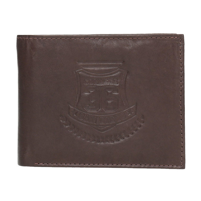 Herren-Geldbörse aus Leder bata, Braun, 944-4171 - 26