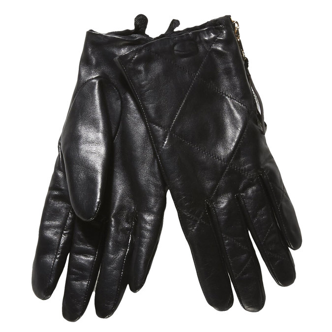 Damen-Lederhandschuhe mit Steppnaht, Schwarz, 904-6108 - 13