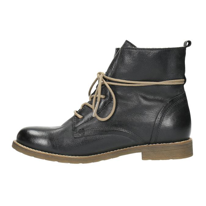 Knöchelschuhe aus Leder mit wärmender Fütterung bata, Schwarz, 594-6610 - 26