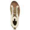 Knöchelhohe Leder-Sneakers mit Kunstpelz weinbrenner, Braun, 596-8627 - 17