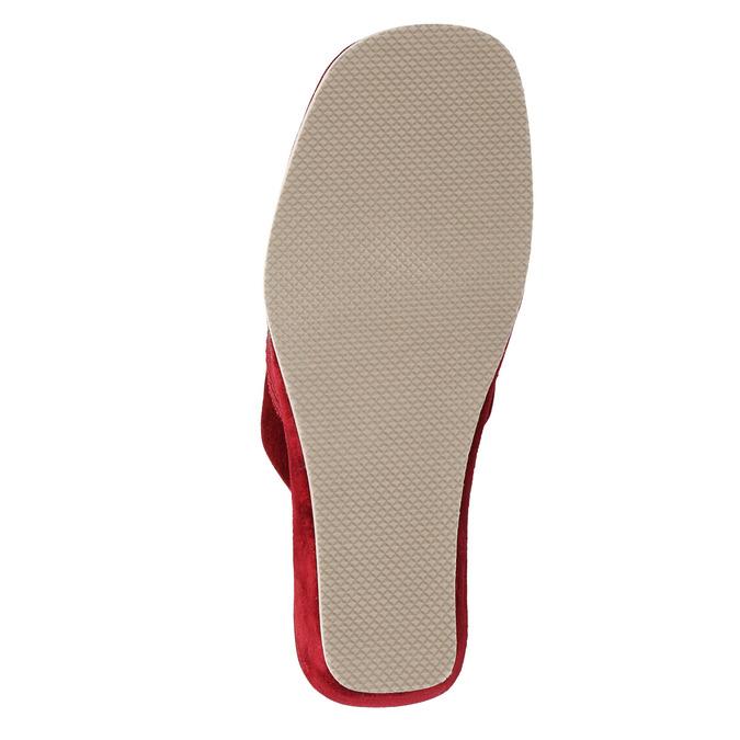 Damen-Hausschuhe mit Keilabsatz bata, Rot, 679-5607 - 26
