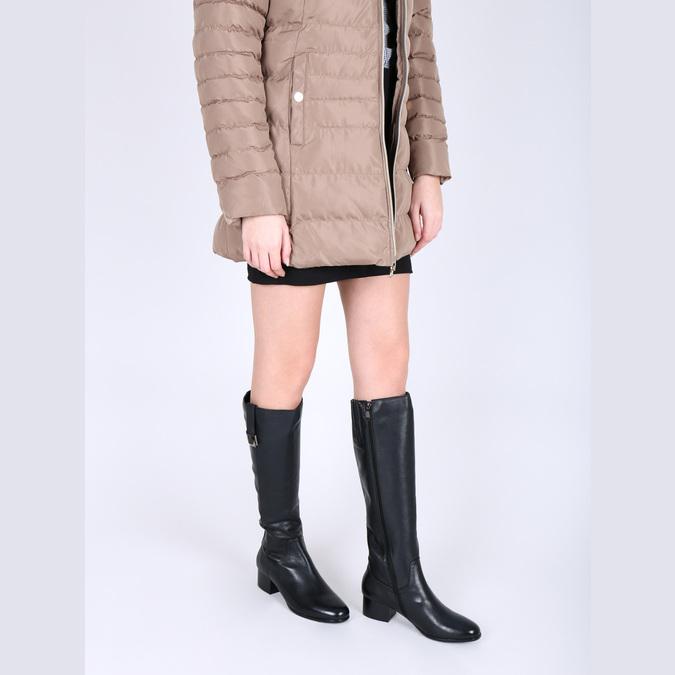 Damenstiefel aus Leder mit niedrigem Absatz bata, Schwarz, 694-6631 - 18