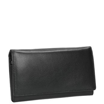 Damen-Geldbörse aus Leder, Schwarz, 944-6357 - 13