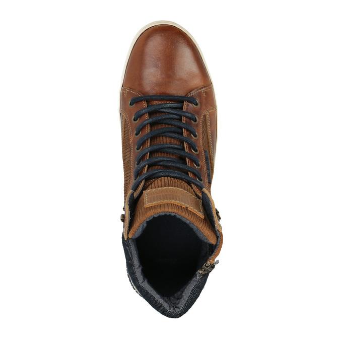 Knöchelhohe Sneakers aus Leder mit Reißverschluss bata, Braun, 844-3632 - 19