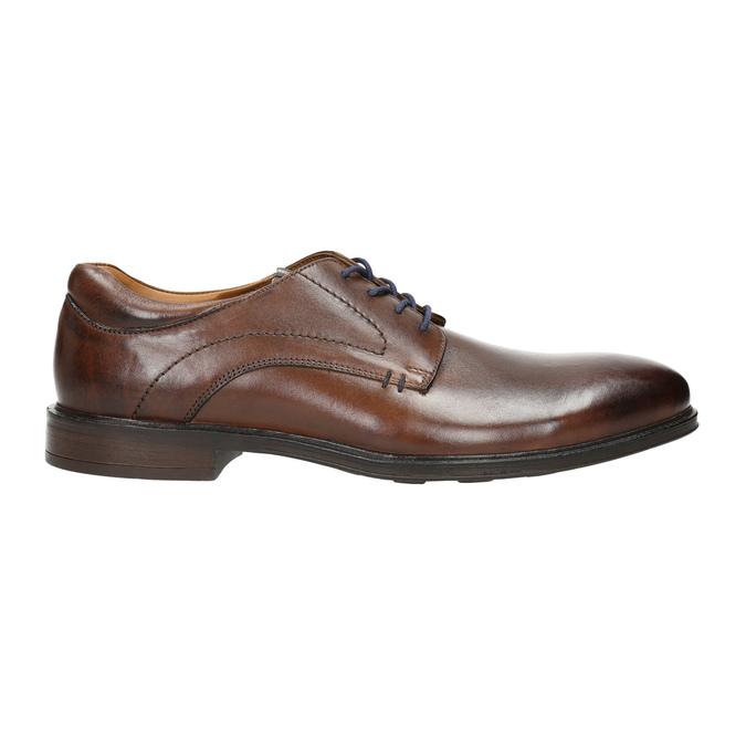 Braune Herrenhalbschuhe aus Leder bata, Braun, 826-4800 - 15