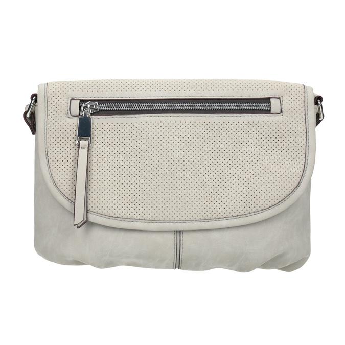 Crossbody-Handtasche mit perforierter Klappe bata, Beige, 961-2709 - 26