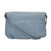 Crossbody-Handtasche mit perforierter Klappe bata, Blau, 961-9709 - 19