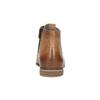 Leder-Knöchelschuhe mit Perforation bata, Braun, 596-4645 - 17