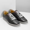 Herren Leder-Sneakers bata, Schwarz, 846-6617 - 26
