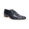 Blaue Herrenhalbschuhe aus Leder bata, Blau, 826-9836 - 13