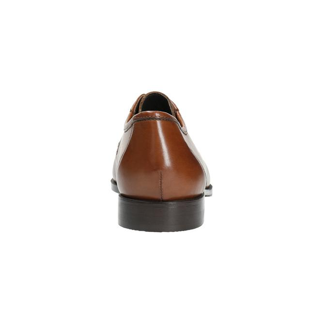Herren-Lederhalbschuhe mit markanter Steppung bata, Braun, 824-4838 - 17