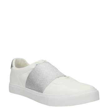 Weisse Sneakers mit silbernem Streifen north-star, Weiss, 511-1602 - 13