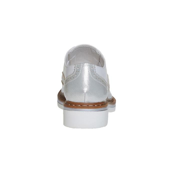 Kinderhalbschuhe mit Steinchen mini-b, Silber , 321-2246 - 17