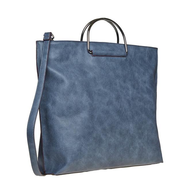 Blaue Damenhandtasche bata, Blau, 961-9327 - 13