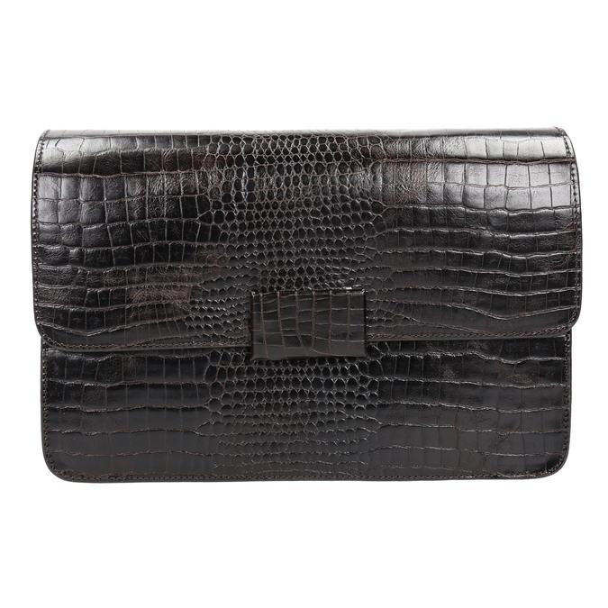 Damen-Lederhandtasche in Kroko-Optik vagabond, Braun, 966-3030 - 19