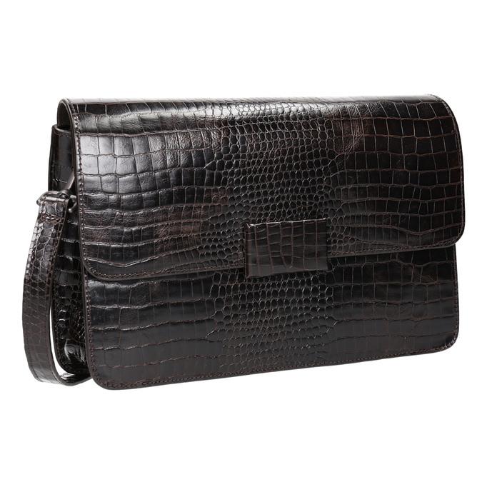 Damen-Lederhandtasche in Kroko-Optik vagabond, Braun, 966-3030 - 13