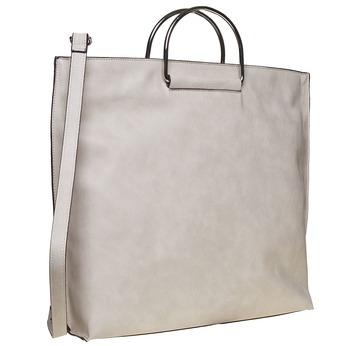 Cremefarbene Damenhandtasche bata, Grau, 961-8327 - 13