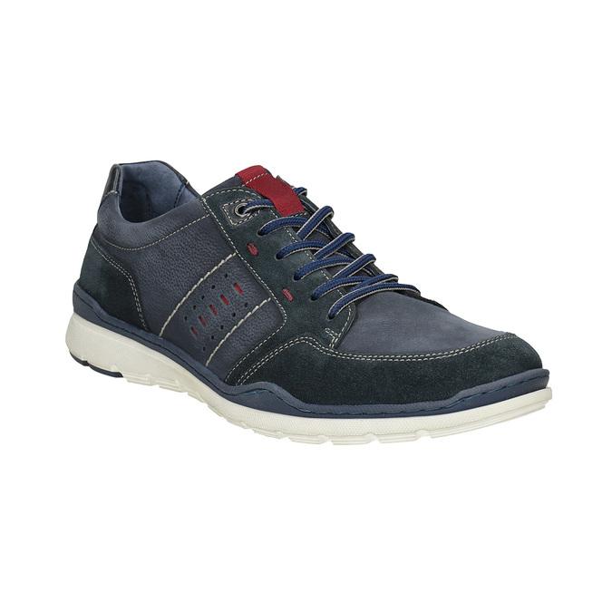 Legere Sneakers aus geschliffenem Leder bata, Blau, 846-9639 - 13