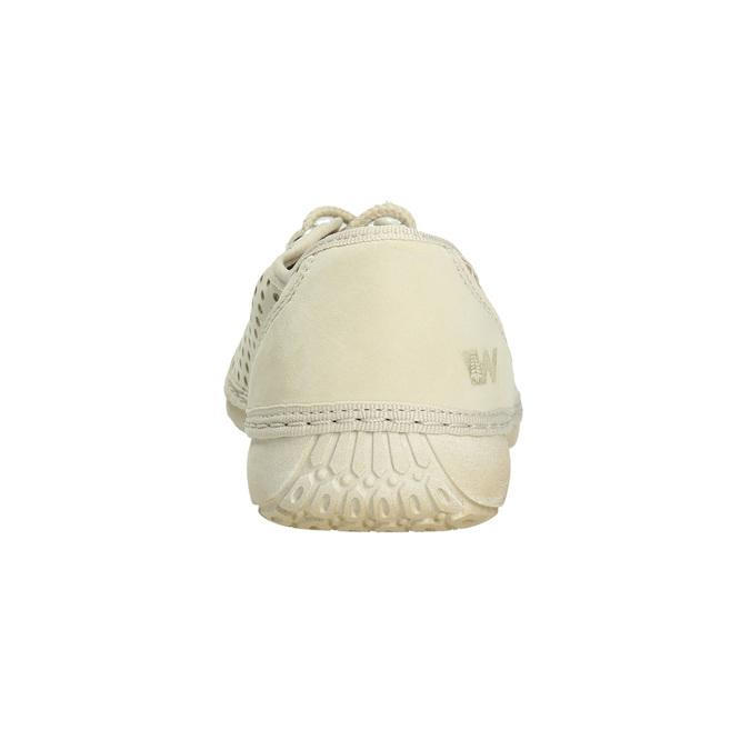 Lederhalbschuhe mit Perforation weinbrenner, 546-8605 - 17