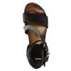 Damensandalen aus Leder mit Flatform bata, Schwarz, 666-6604 - 19