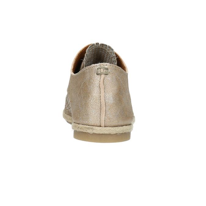 Damenhalbschuhe aus Leder bata, Beige, 526-8629 - 17