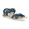 Damensandalen aus Leder weinbrenner, Blau, 566-9608 - 13