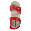 Rote Damensandalen aus Leder weinbrenner, Rot, 566-5608 - 19