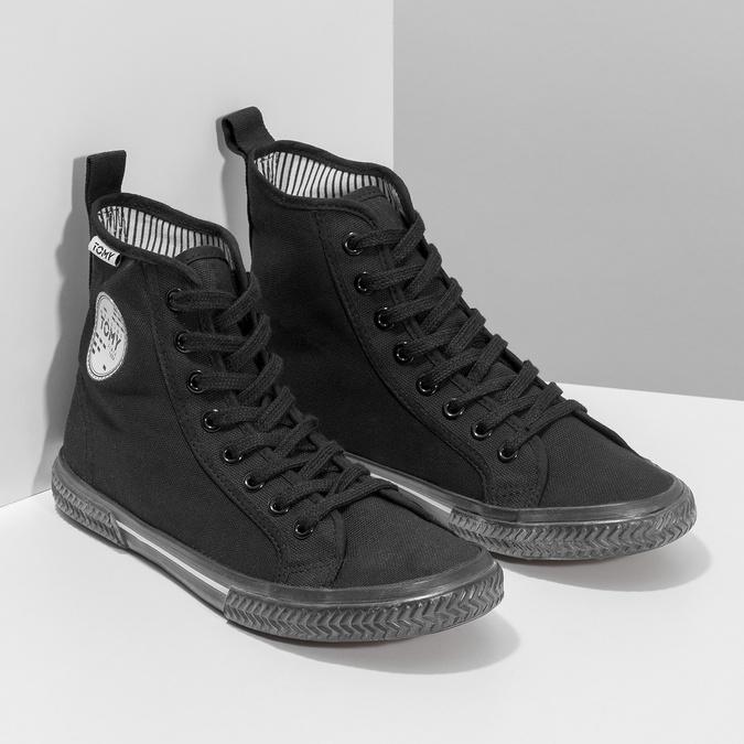 Schwarze, knöchelhohe Sneakers tomy-takkies, Schwarz, 589-6173 - 26