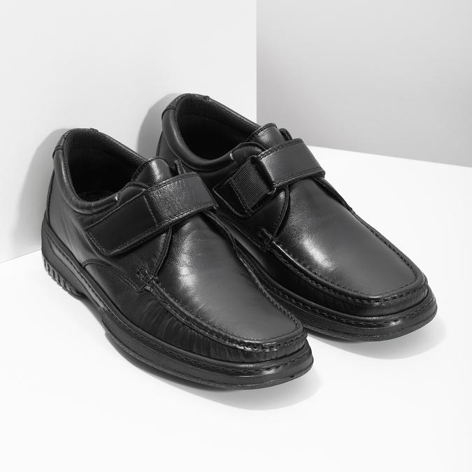 Herren-Mokassins aus Leder mit Klettverschluss pinosos, Schwarz, 824-6543 - 26