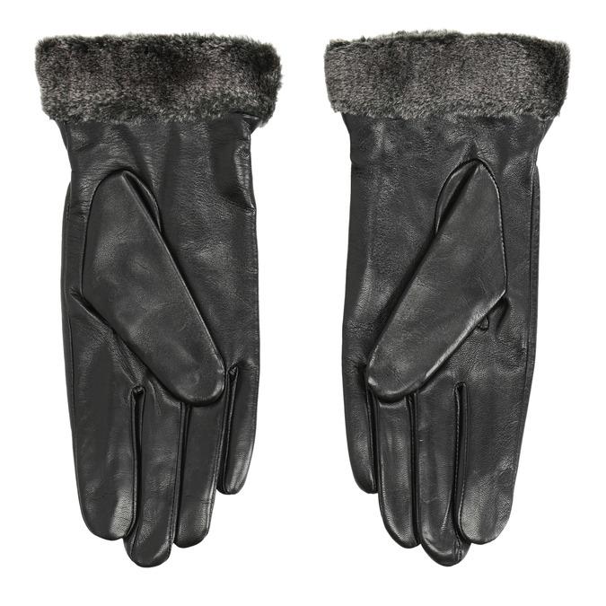 Damen-Lederhandschuhe mit Kunstfell bata, Schwarz, 904-6112 - 16