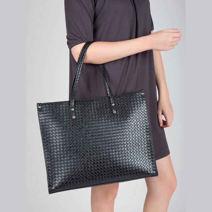 Handtasche mit geflochtenem Muster marie-claire, Schwarz, 961-6540 - 18