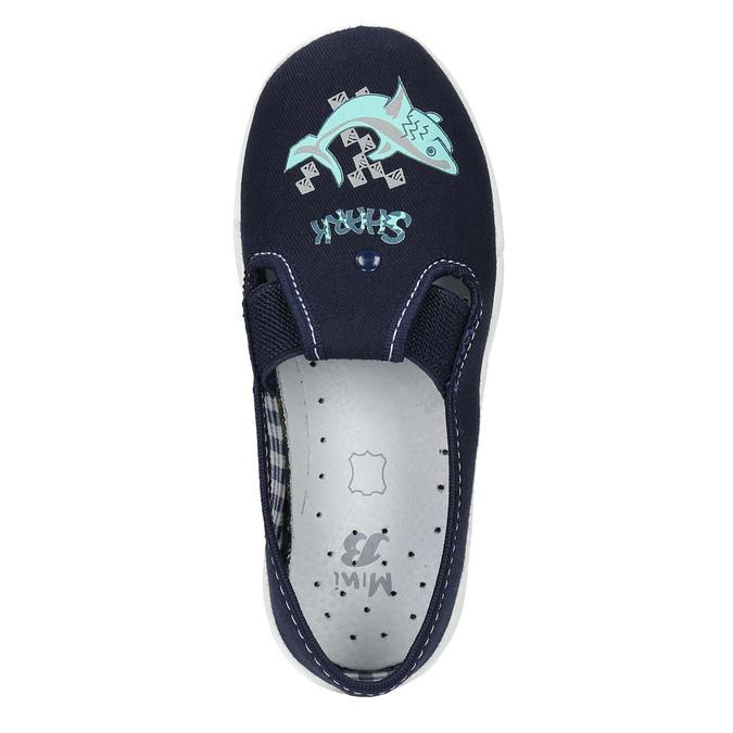 Kinderpantoffeln mit Hai-Motiv mini-b, Blau, 379-9213 - 19