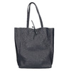 Damen-Shopper-Handtasche aus Leder bata, Blau, 964-9122 - 26