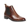 Damen-Chelsea-Boots aus Leder bata, Braun, 594-4635 - 13
