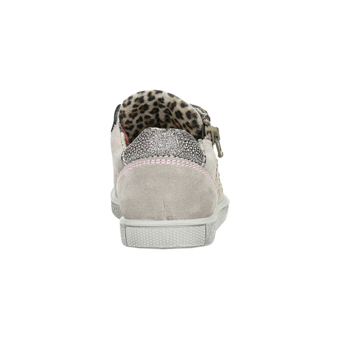Kinder-Sneakers aus Leder mit Zwecken mini-b, Rosa, 323-5173 - 17