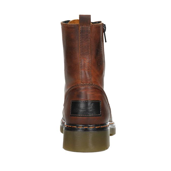 Knöchelhohe Damenschuhe mit Reissverschluss bata, Braun, 596-3681 - 16